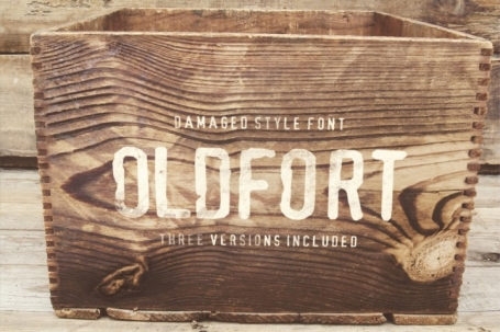 Old Fort Damaged Style Display Font