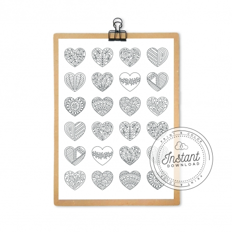 Mini Hearts Pattern Printable