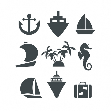 Silhouette icons set