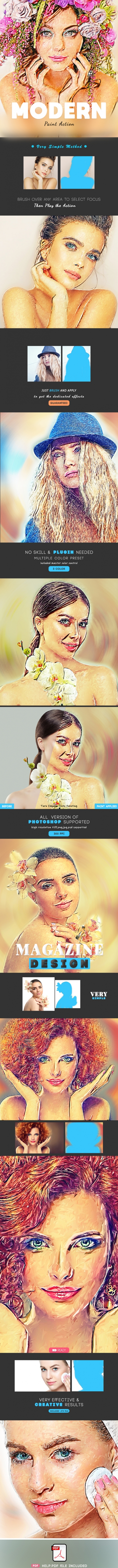 Modern Paint Photoshop Action
