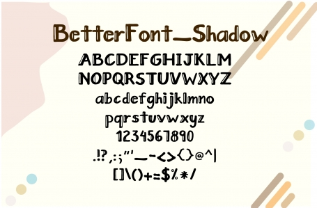 Handlettered Font BetterFont_Shadow