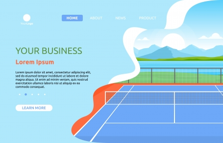 Outdoor Tennis Court Sport Game