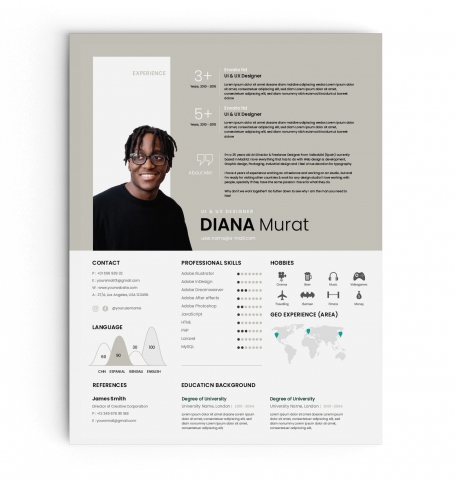 Minimal CV Resume and Cover