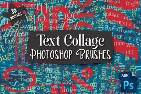 Text Collage Photoshop Brushes