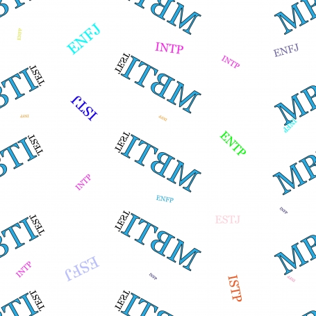 Seamless pattern MBTI.