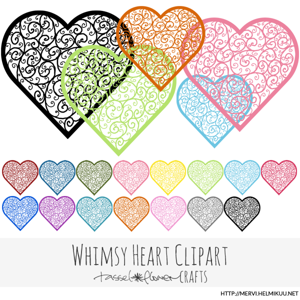 Whimsical Heart Clipart - Graphics / Clip Art   Luvly